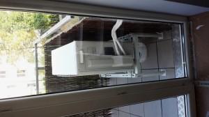 montaż na balkonie